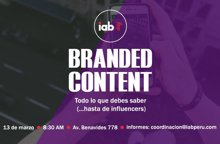IAB Day – Branded Content: todo lo que debes saber (…hasta de influencers)