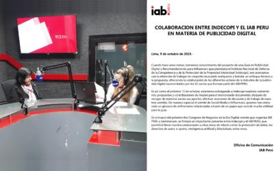 Colaboración entre INDECOPI y el IAB Perú