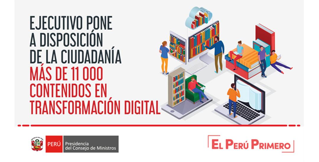 Ejecutivo pone a disposición de la ciudadanía más de 11 000 contenidos en transformación digital