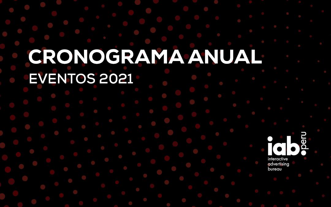 Calendario de eventos 2021