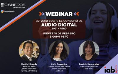 Webinar: Estudio sobre el consumo del audio digital en Perú 2021